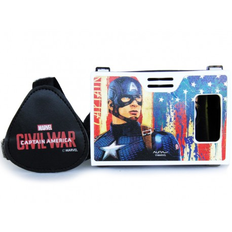 Official Marvel Civil War (Captain America) The Living Legend Plastic Virtual Reality Viewer Inspired by Google Cardboard