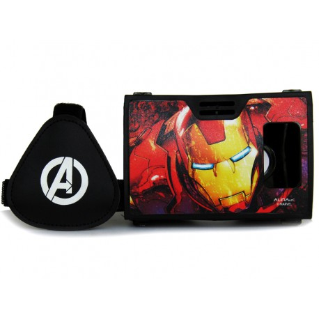 Official Marvel Avengers(Iron Man)Man With Armor Plastic 6 inch Virtual Reality Viewer from AuraVR Inspired by Google Cardboard