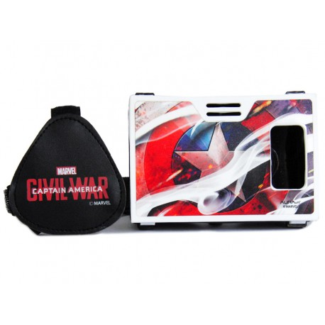 Official Marvel Civil War(Shield)Symbol Of Justice Plastic Virtual Reality Viewer from AuraVR Inspired by Google Cardboard