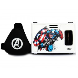 Official Marvel Avengers(Captain America)Man Out Of Time Plastic 6 inch Virtual Reality Viewer Inspired by Google Cardboard