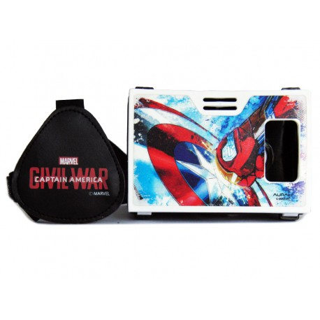 Official Marvel Civil War Shield Vs Armor Plastic Virtual Reality Viewer(VR Headset)from AuraVR Inspired by Google Cardboard