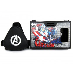 Official Marvel Avengers Captain America Plastic 6 inch Virtual Reality Viewer from AuraVR Inspired by Google Cardboard