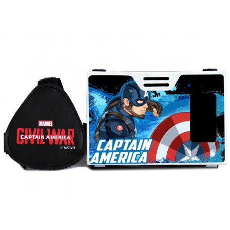 Official Marvel Civil War(Captain America)Shield For Justice Plastic Virtual Reality Viewer Inspired by Google Cardboard