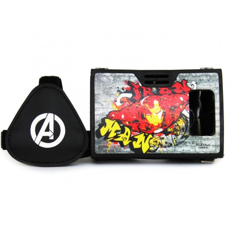 Official Marvel Avengers Iron Man Plastic 6 inch Virtual Reality Viewer (VR Headset) from AuraVR Inspired by Google Cardboard